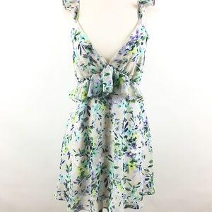 Lulu's floral sleeveless tunic/ dress sz M